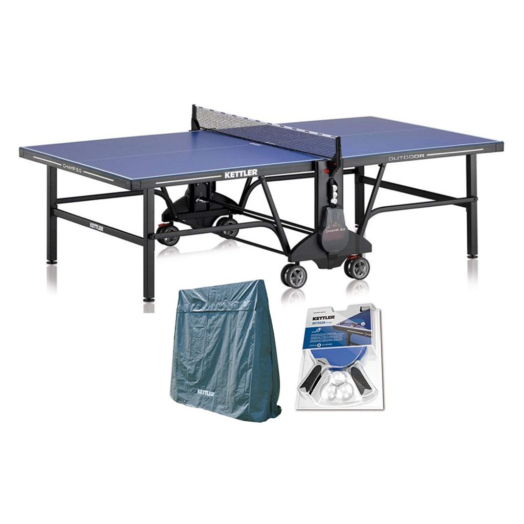 10. Kettler Champ 5.0 Outdoor Ping Pong Table