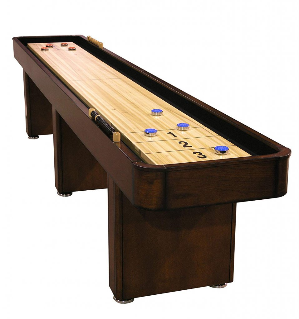 Fairview Game Rooms 12 foot Shuffleboard Game Table with hidden storage cabinet