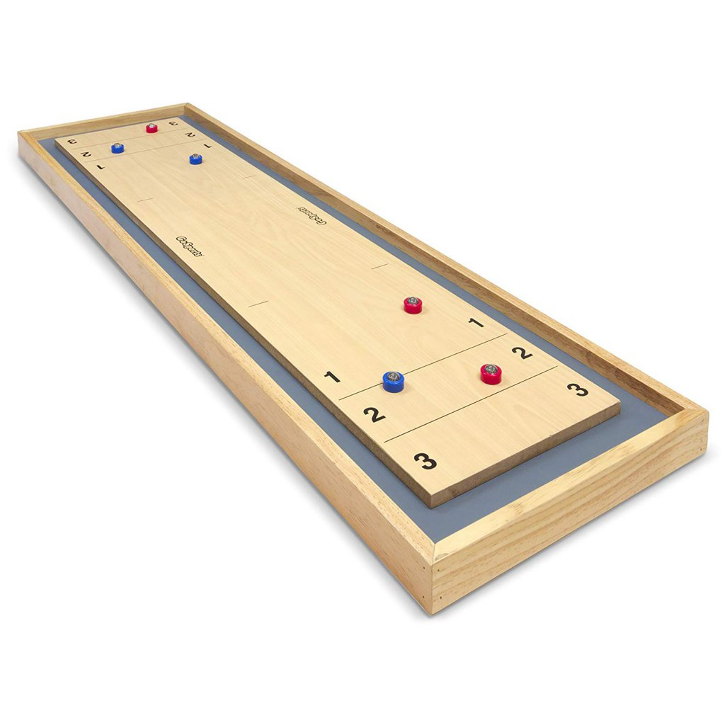 GoSports Shuffleboard and Curling 2 in 1 Table Top Board Game