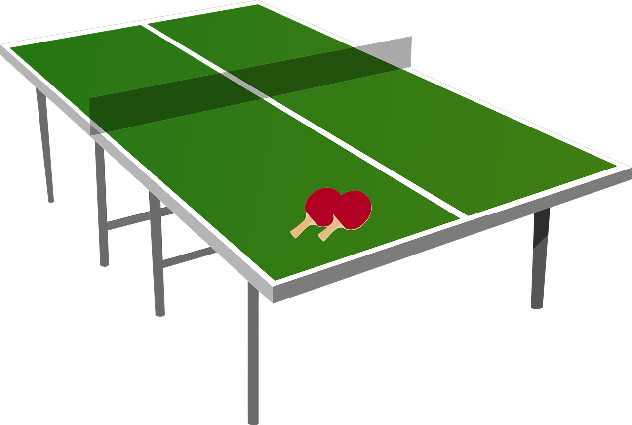 Ping pong table dimention
