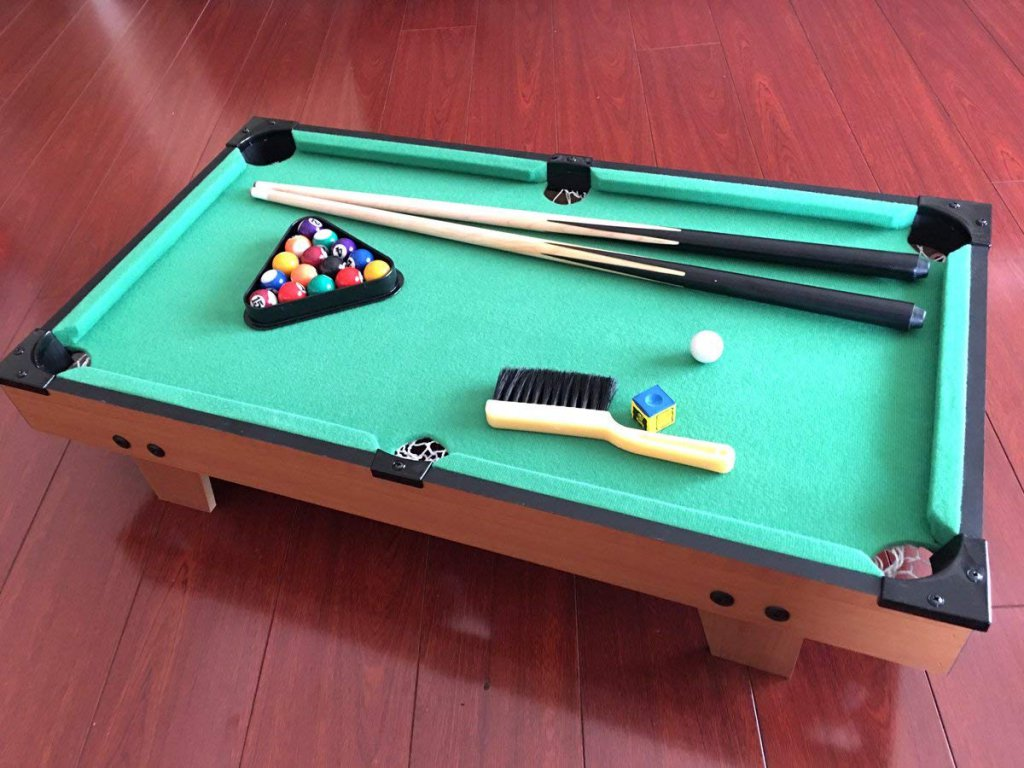 T&S Tabletop Billiards and Pool Table Game