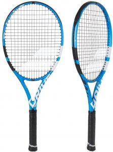 Babolat Pure Drive Tennis Racquet (4 1/4) Strung with Blue Tennis String