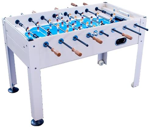 Park & Sun Sports Blue Sky Beachwood Indoor/Outdoor Weatherproof Foosball/Soccer Game Table